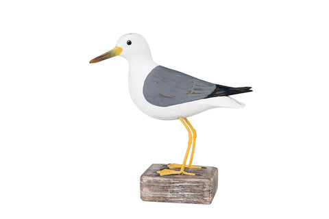 Archipelago Sea Gull Standing Hand Carved Wooden Bird