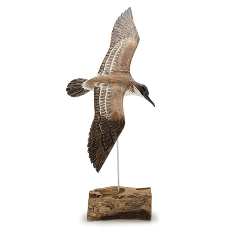Archipelago Shearwater Hand Carved Wooden Bird