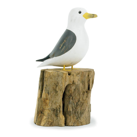 Archipelago Small Sea Gull Hand Carved Wooden Birds