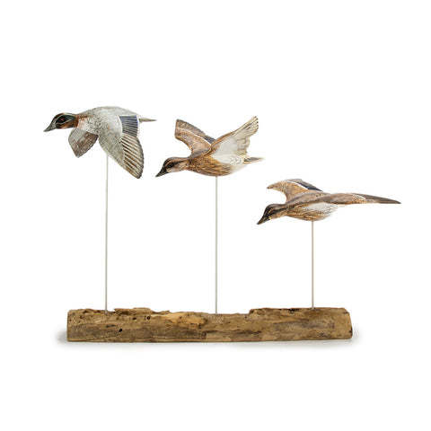 Archipelago Teal Block Hand Carved Wooden Bird