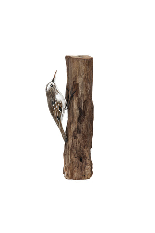 Archipelago Tree Creeper Hand Carved Wooden Bird