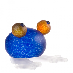 BOROWSKI GLASS - Frosch Paperweight Blue
