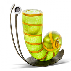 BOROWSKI GLASS - Slow Jim Vase Small Lime Green