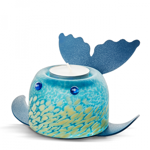 Borowski Whale Shark T-light Holder Blue/White