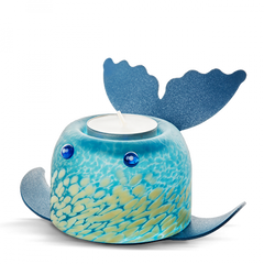 Borowski - Whale Shark T-light Holder Blue/White