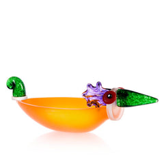 BOROWSKI GLASS - Ente Large Bowl Orange