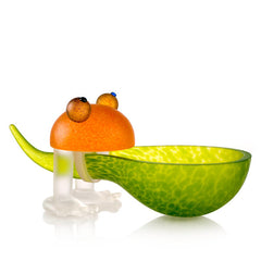 BOROWSKI GLASS - Frosch Bowl Lime Green