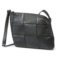 Bylin Dutch Design - Carre Crossover Black Leather Handbag