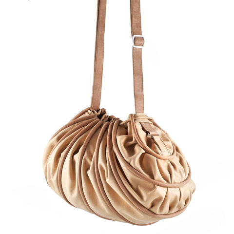 Bylin,Cocoon Camel Leather Handbag