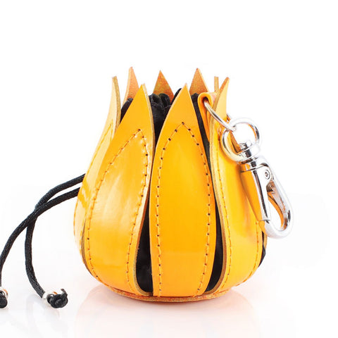 Bylin,My Little Tulip Yellow Enamel Leather Purse