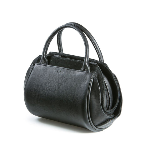 Oberoi Evening Black Leather Handbag,