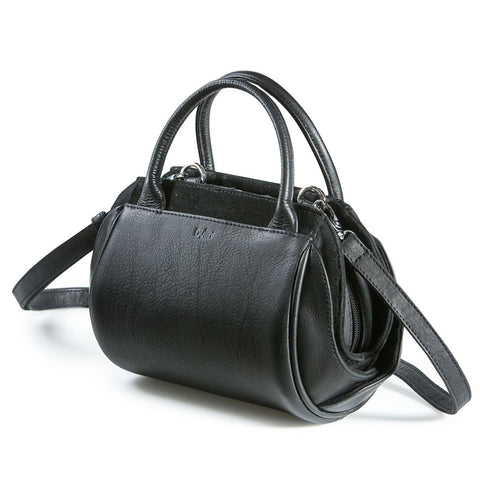 Bylin,Oberoi Evening Black Leather Handbag, strap