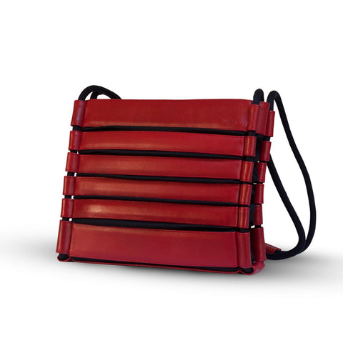 Bylin,UpDown Red Bylin Leather Handbag