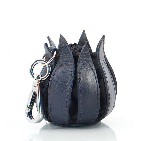 Bylin,My Little Tulip Navy Classic Leather Purse