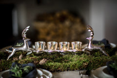 CULINARY CONCEPTS - Leaping Stags Four Mercury Votive Holder