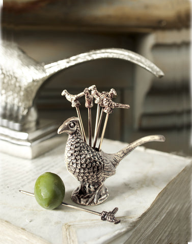 Culinary Concepts, Pheasant Olive Picks and Holder - Photo