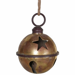 TRADITIONAL RED & GOLD - Distressed Copper Bell