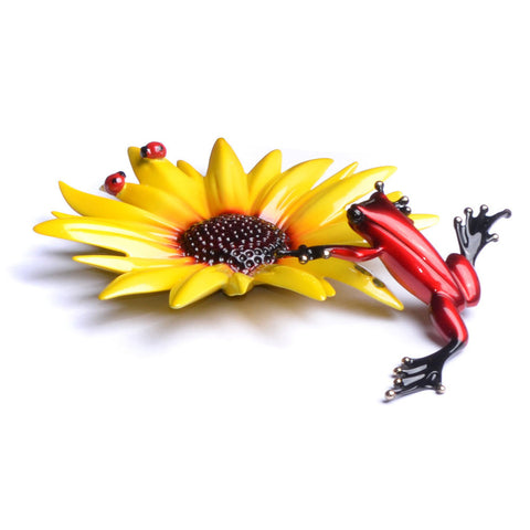 Sunflower Frogman Bronze by Tim Cotterill