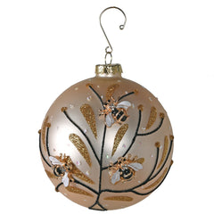 TRADITIONAL RED & GOLD - Gold Bumble Bee Bauble