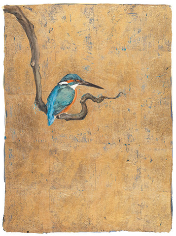 Jackie Morris illustration Kingfisher (2018) for Robert Macfarlane's The Lost Words