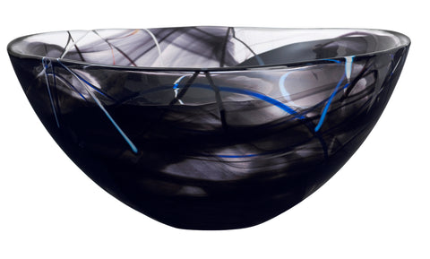 Kosta Boda Contrast Bowl 230mm Black