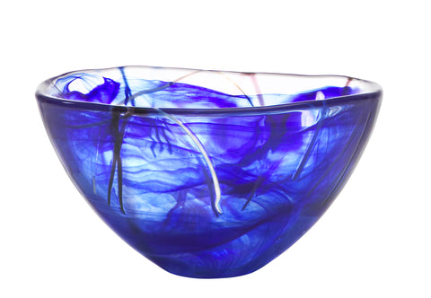 Kosta Boda Contrast Bowl 230mm Blue