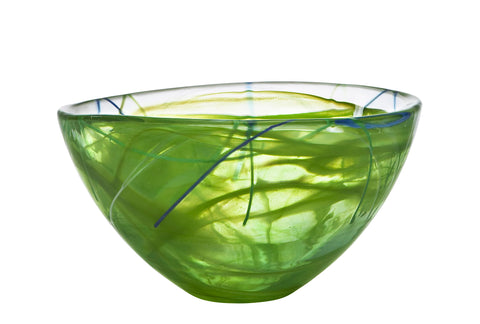 Kosta Boda Contrast Bowl 230mm Lime