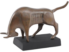 LIBRA - Copper Bull Sculpture