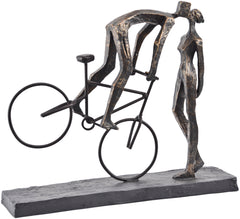 LIBRA - Kissing Couple On Bike Sculpture