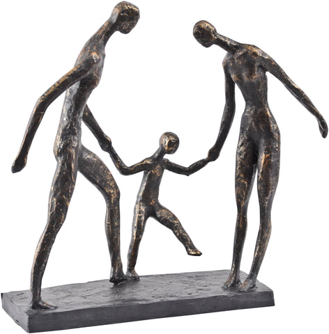 Libra Family Of Three Holding Hands Sculpture