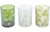The Libra Company Glass Votive Large Green/White