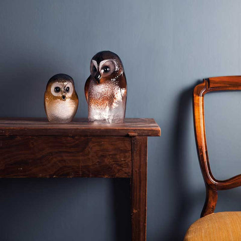 Mats Jonasson Owl Large And Small Brown