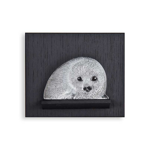 Mats Jonasson Baby Seal Miniature On Wall Plate