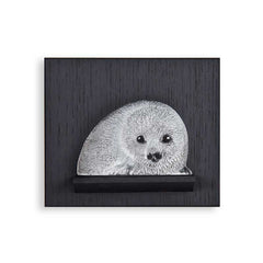 MALERAS - Baby Seal Miniature On Wall Plate