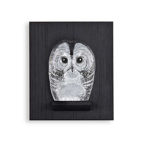 Mats Jonasson Owlet  Miniature On Wall Plate
