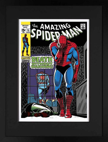 Marvel Superheroes, The Amazing Spider-Man #75 - Death Without Warning! - Giclee on Paper (2013)