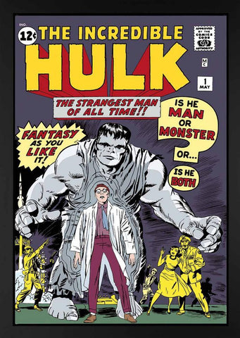 Marvel Superheroes,The Incredible Hulk #1 - The Strangest Man of All Time! - Boxed Canvas (2013)