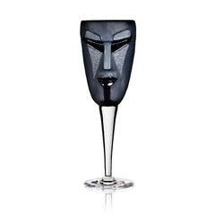 MALERAS - Kubik, wine glass, black
