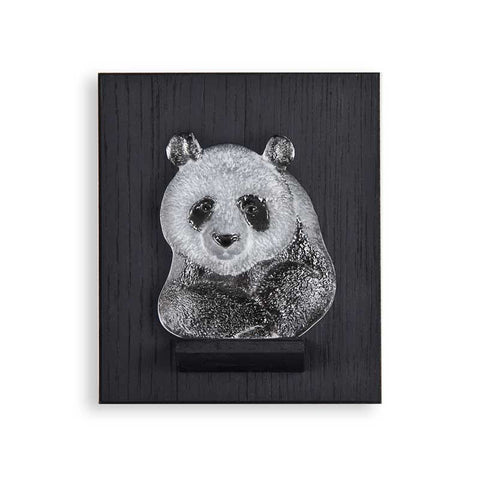 Mats Jonasson Panda Miniature On Wall Plate