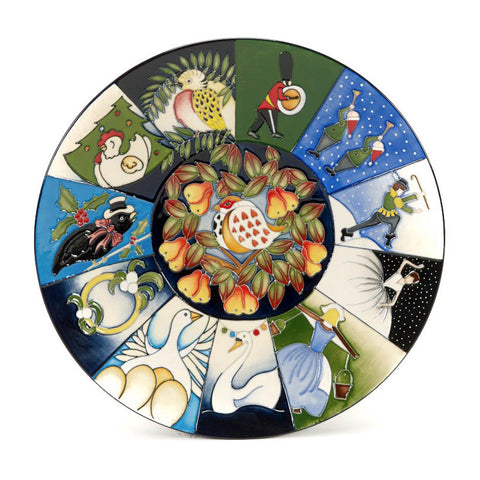 moorcroft 12 days of christmas plate 78510