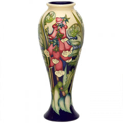 Moorcroft - Ferns and Foxgloves Vase 75/10 (2019)
