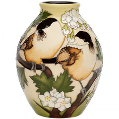 MOORCROFT - Willow Tits Vase 3/5 (2019)