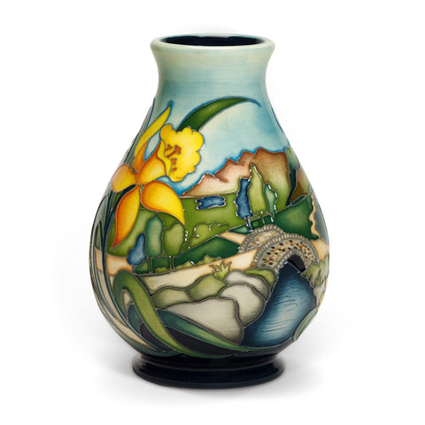 Moorcroft Ashness Bridge Vase 7/5 - an exclusive numbered edition with Treeby & Bolton backstamp