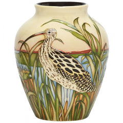 MOORCROFT - Call of the Curlew 216/8 Vase (RSPB 2018)