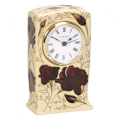 MOORCROFT - Chocolate Cosmos Clock CL1 (2018)
