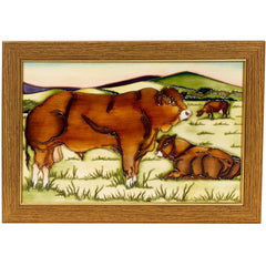 MOORCROFT - Limousin Bulls Plaque PLQ2 Countryside Collection (2017)