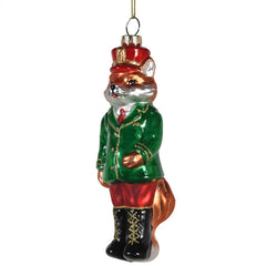 TRADITIONAL RED & GOLD - Mr Fox Glass Bauble