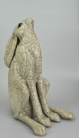 paul jenkins Medium Moongazer Raku Hare