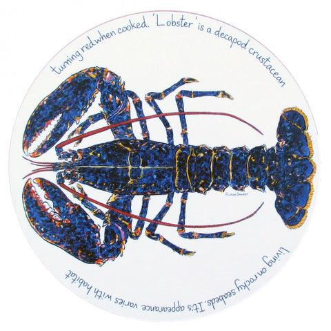 richard bramble tablemat blue lobster