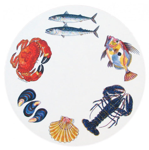 richard bramble tablemat fish & shellfish